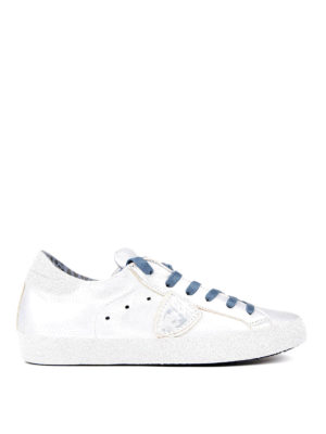Philippe Model: trainers - Paris Glitter leather sneakers