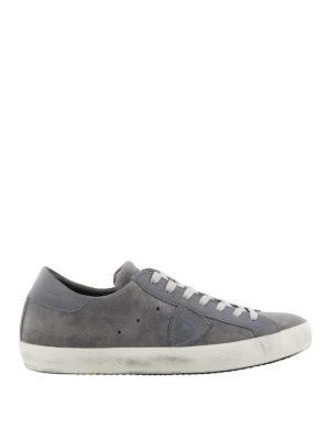 PHILIPPE MODEL: sneakers - Sneaker Paris basse in camoscio grigio