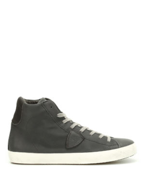 Philippe Model: trainers - Paris high top calfskin sneakers