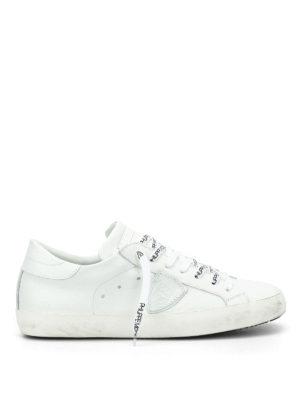 Philippe Model: trainers - Paris logo laces sneakers