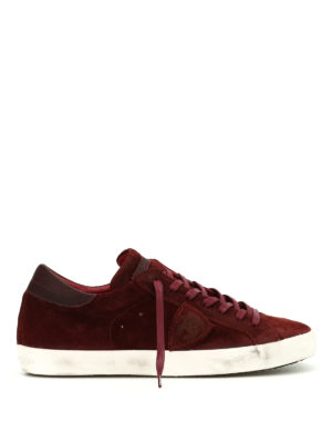 Philippe Model: trainers - Paris low top suede sneakers