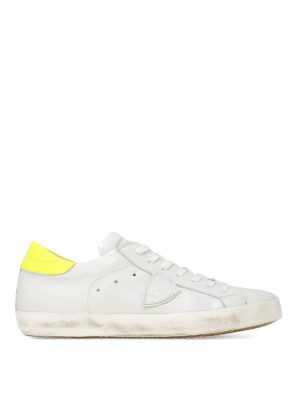 PHILIPPE MODEL: trainers - Paris low top white and yellow sneakers
