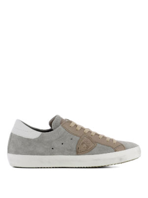 Philippe Model: trainers - Paris Mixage grey suede sneakers