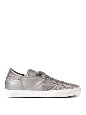 Philippe Model: trainers - Paris opalescent leather sneakers