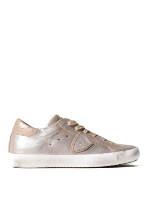 Philippe Model: trainers - Paris pearly leather sneakers