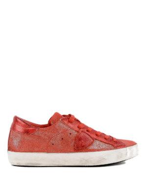 PHILIPPE MODEL: sneakers - Sneaker Paris in suede spalmato rosso