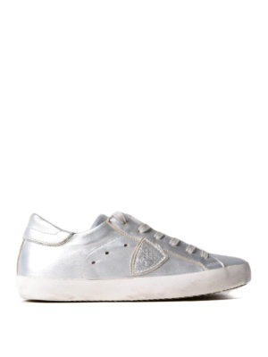 Philippe Model: trainers - Paris silver leather basic sneakers