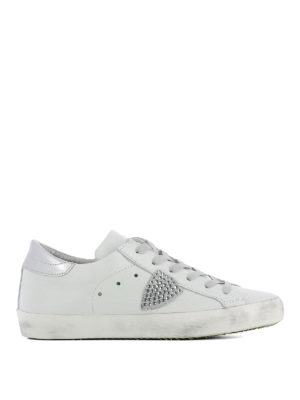Philippe Model: trainers - Paris Studs Blanc leather sneakers