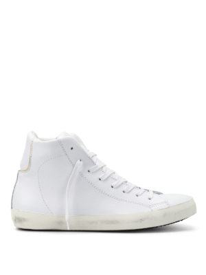 Philippe Model: trainers - Paris total white high top sneakers