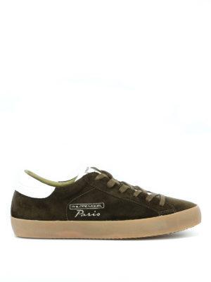 PHILIPPE MODEL: sneakers - Sneaker in morbido suede verde Paris Vintage