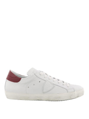 PHILIPPE MODEL: sneakers - Sneaker Paris bianche con tallone rosso