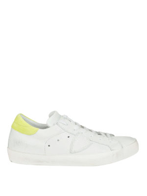 Philippe Model: trainers - Paris white yellow leather sneakers