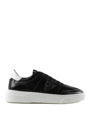 PHILIPPE MODEL: sneakers - Sneaker Temple in pelle nera