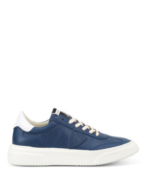 Philippe Model: trainers - Temple logo detail leather sneakers