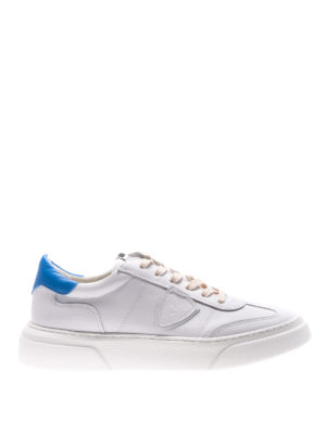 Philippe Model: trainers - Temple white and blue sneakers