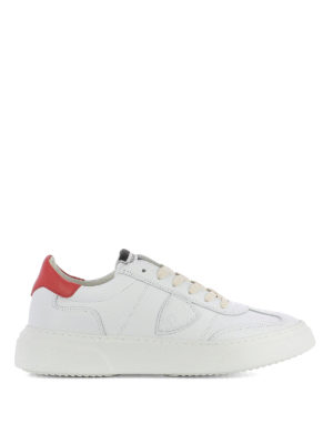 Philippe Model: trainers - Temple white and red sneakers