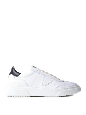 Philippe Model: trainers - Temple white leather sneakers
