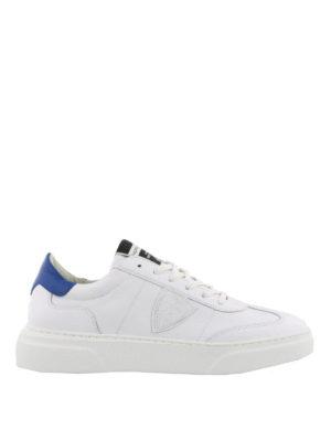 PHILIPPE MODEL: sneakers - Sneaker bianche Temple con talloncino blu