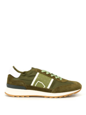 Philippe Model: trainers - Toujours Basic green nylon sneakers