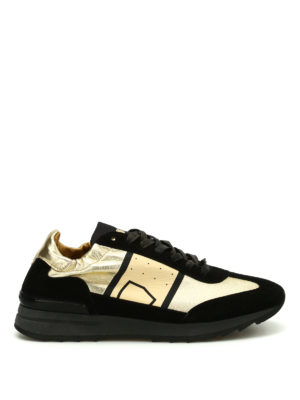 Philippe Model: trainers - Toujours suede glossy sneakers
