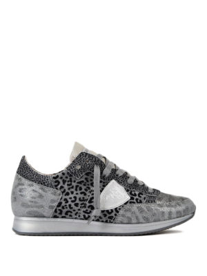 Philippe Model: trainers - Tropez animal print sneakers