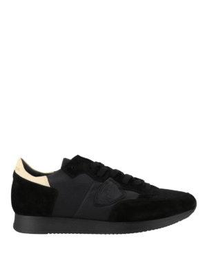 PHILIPPE MODEL: sneakers - Sneaker Tropez nere in pelle e camoscio