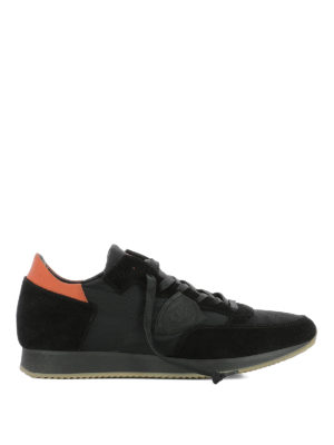 Philippe Model: trainers - Tropez black nylon & suede sneakers