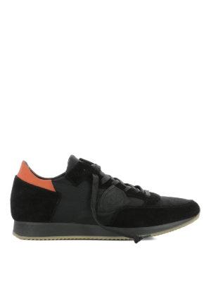 PHILIPPE MODEL: sneakers - Sneaker Tropez nere nylon e suede