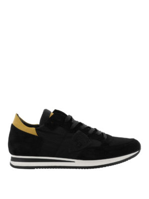 PHILIPPE MODEL: sneakers - Sneaker Tropez in nylon e suede nero