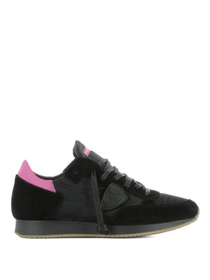 Philippe Model: trainers - Tropez black suede & nylon sneakers