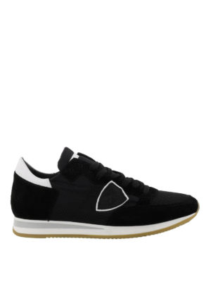 PHILIPPE MODEL: sneakers - Sneaker Tropez in suede e nylon nero
