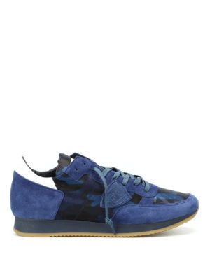 Philippe Model: trainers - Tropez blue camu sneakers