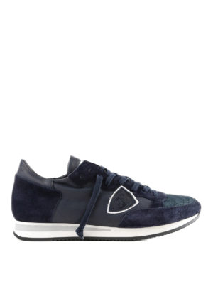 PHILIPPE MODEL: sneakers - Sneaker Tropez blu in pelle e suede