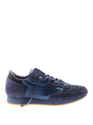 Philippe Model: trainers - Tropez blue nylon suede sneakers