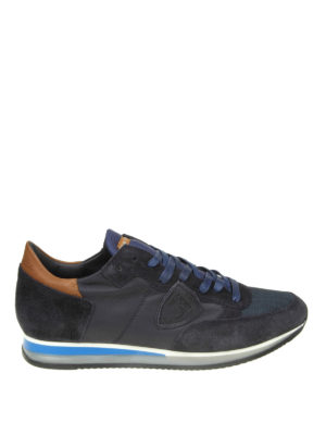 PHILIPPE MODEL: sneakers - Sneaker Tropez in camoscio e pelle blu