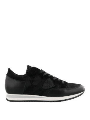 PHILIPPE MODEL: sneakers - Sneaker Tropez camouflage nero multi tessuto