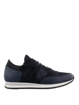PHILIPPE MODEL: sneakers - Sneaker Tropez camouflage blu multi tessuto
