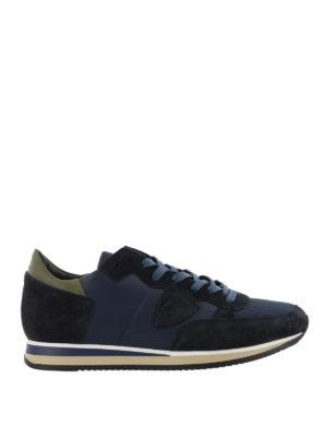 PHILIPPE MODEL: sneakers - Sneaker Tropez blu scuro con talloncino verde