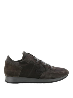 PHILIPPE MODEL: sneakers - Sneaker Tropez in nylon e suede grigio scuro
