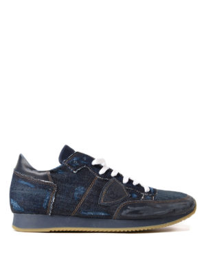 Philippe Model: trainers - Tropez denim and nubuck sneakers