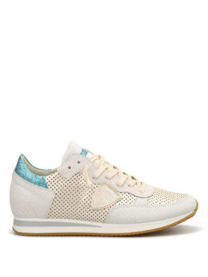 Philippe Model: trainers - Tropez drilled leather sneakers