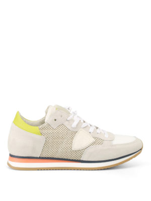 Philippe Model: trainers - Tropez drilled suede sneakers