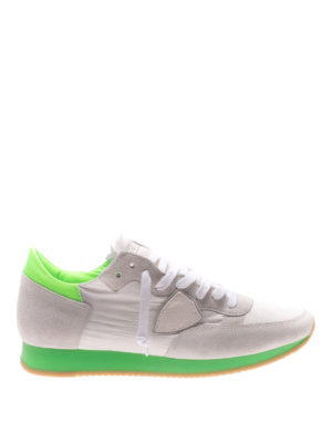 Philippe Model: trainers - Tropez fluo green detail sneakers