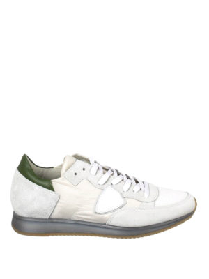 Philippe Model: trainers - Tropez green detail sneakers