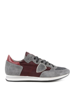 PHILIPPE MODEL: sneakers - Sneaker Tropez grigie e bordeaux