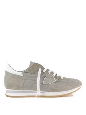 PHILIPPE MODEL: sneakers - Sneaker grigie Tropez in suede e nylon