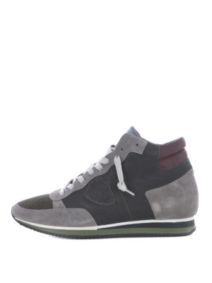 Philippe Model: trainers - Tropez High World grey sneakers