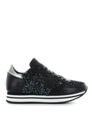 PHILIPPE MODEL: sneakers - Sneaker multi tessuto Tropez Higher nere