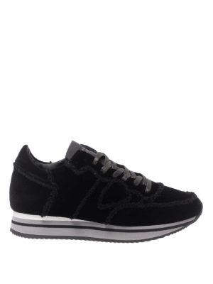 PHILIPPE MODEL: sneakers - Sneaker Tropez Higher in velluto nero