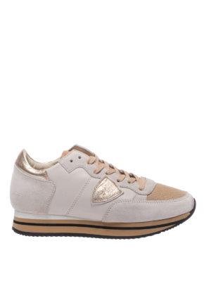 PHILIPPE MODEL: sneakers - Sneaker Tropez Higher in pelle e camoscio